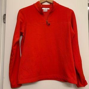 Nike Golf Red Orange Fleece Pullover Size Medium